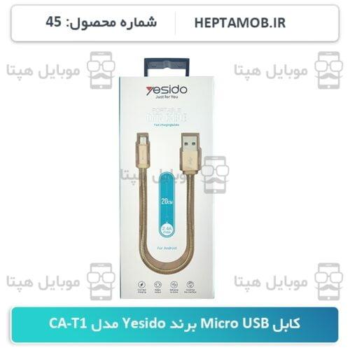 کابل Micro USB برند Yesido مدل CA-T1 رنگ طلایی - HEPTA-0000045